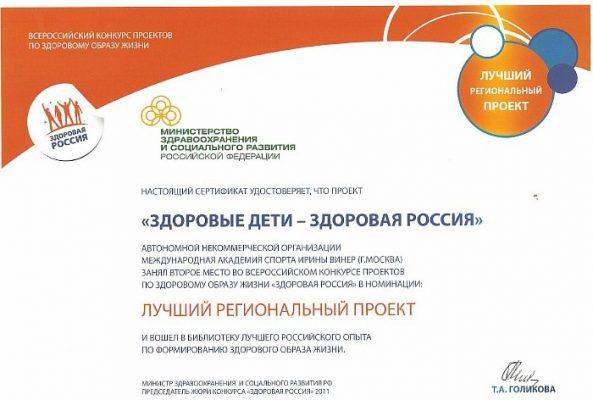 Здоровые дети-здоровая Россия